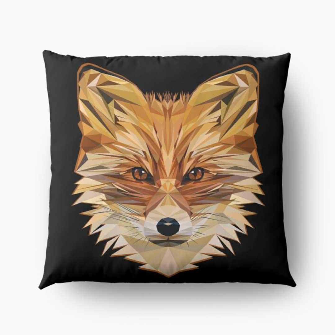 low-poly-fox-pillow-design